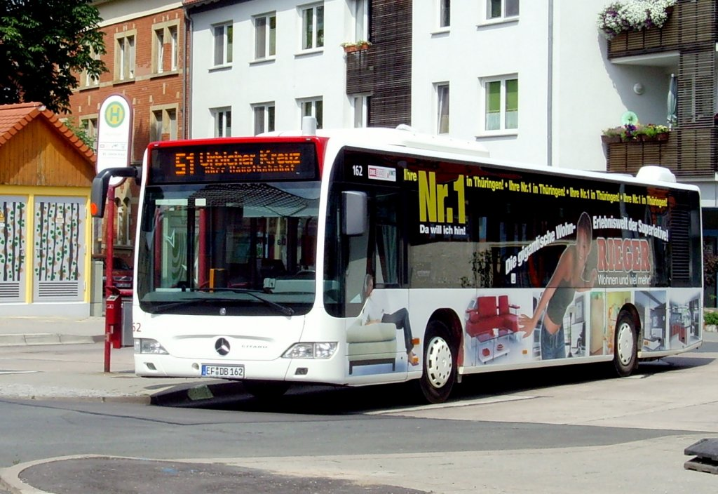 bus 162 der evag in erfurt hochheim nahverkehr. Black Bedroom Furniture Sets. Home Design Ideas