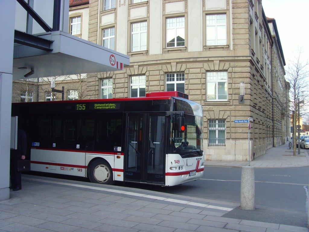 bus der linie 155 nach hohenfelden erfurt busbahnhof 3 nahverkehr deutschland. Black Bedroom Furniture Sets. Home Design Ideas