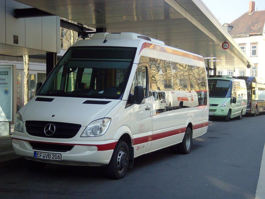 evag kleinbus am busbahnhof erfurt m rz 2011 nahverkehr. Black Bedroom Furniture Sets. Home Design Ideas