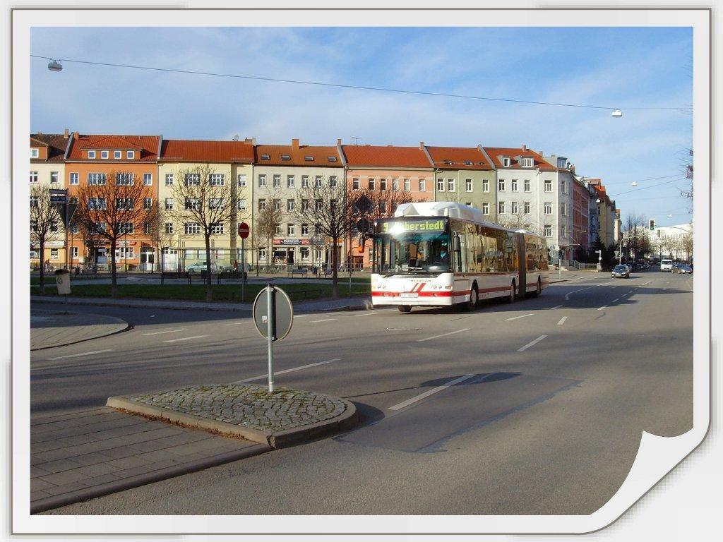 gelenkbus der linie 9 am leipziger platz erfurt november 2009 nahverkehr deutschland. Black Bedroom Furniture Sets. Home Design Ideas