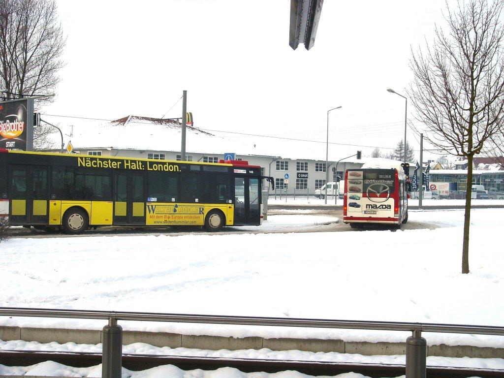 stadtbusse am europaplatz der umsteigestelle von strassenbahn auf bus erfurt 6. Black Bedroom Furniture Sets. Home Design Ideas