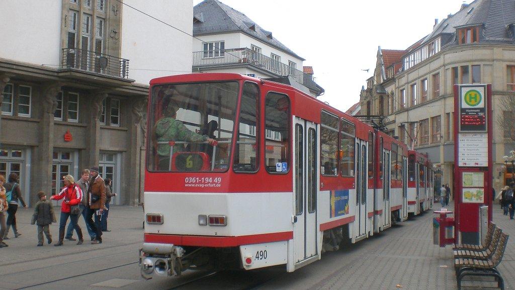 Tatra zug der linie 6 am fischmarkt erfurt 31 for Am fischmarkt