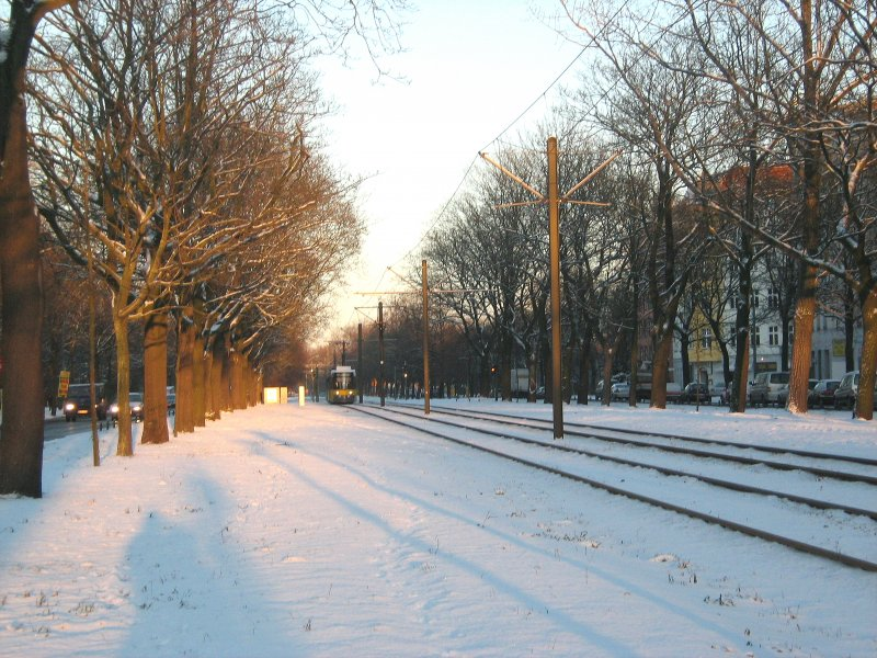 Strassenbahn in Wedding, Winter 2009