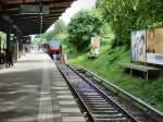 S-Bahn/17772/das-gleis-mit-dem-s-bahnzug-nach Das Gleis mit dem S-Bahnzug nach Grünau ist in Richtung Birkenwerder unterbrochen, Mai 2009