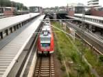 S-Bahn ERSATZVERKEHR/26815/bhf-gesundbrunnen-mit-s-bahnzug-aus-stuttgart Bhf Gesundbrunnen mit S-Bahnzug aus Stuttgart als S21 nach Südkreuz, Berlin Juli 2009