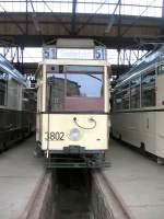 Strasenbahn/11002/hist-tw-3802-in-niederschoenhausen-2005 Hist. Tw 3802 in Niederschönhausen, 2005