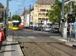 Strasenbahn/15077/flexity-auf-der-m2-hier-an FLEXITY auf der M2, hier an der Kreuzung Ostseestrasse, 21.4.2009