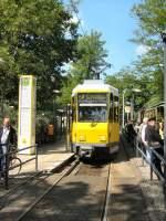 Strasenbahn/16468/kt4d-mod-in-friedrichshagen-altes-wasserwerk KT4D mod. in Friedrichshagen, altes Wasserwerk - 10.5.2009