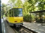 Strasenbahn/16527/heckansicht-kt4d-an-der-endstation-altes Heckansicht KT4D an der Endstation Altes Wasserwerk in Berlin-Friedrichshagen, 10. 5. 2009