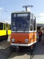 Strasenbahn/34874/nicht-modern-tatra-im-bh-lichtenberg Nicht modern. Tatra im Bh Lichtenberg, Berlin Oktober 2009