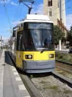 Strasenbahn/57746/niederflurbahn-in-stadtmitte-berlin-sommer-2005 Niederflurbahn in Stadtmitte, Berlin Sommer 2005