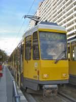 Strasenbahn/57750/kt4d-zug-in-berlin-mitte-nach-falkenberg-m4 KT4D-Zug in Berlin-Mitte nach Falkenberg (M4), Berlin Sommer 2005