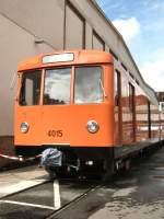 U-Bahn/10581/u-bahnwagen-4015-in-der-werkst-seestrasse U-Bahnwagen 4015 in der Werkst. Seestrasse (Tag der offenen Tür 2008)