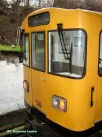 U-Bahn/12904/kleinprofilwagen-576-in-krumme-lanke-maerz Kleinprofilwagen 576 in Krumme Lanke, März 2009