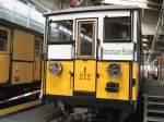 U-Bahn/13247/hier-steht-der-a1-wagen-212-noch Hier steht der A1-Wagen 212 noch in der Wagenhalle Warschauer Strasse, 2007