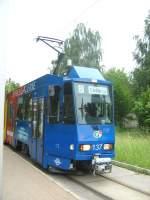 Strasenbahn/20456/tatra-zug-der-linie-2-nach-stroebitz Tatra-Zug der Linie 2 nach Ströbitz, Cottbus 6.6.2009