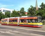 Strassenbahn/17133/niederflurbahn-in-frankfurtoder-am-9-5 Niederflurbahn in Frankfurt/Oder am 9. 5. 2009