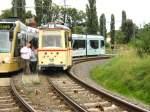 Strassenbahn/4878/tw-46-an-der-endstelle-viereckremise Tw 46 an der Endstelle Viereckremise, Sept. 2007