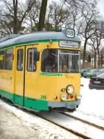 strassenbahn-srs/51950/tw-47-der-srs---winterbetrieb Tw 47 der SRS - Winterbetrieb in Friedrichshagen, 29.1.2010
