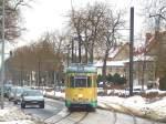 strassenbahn-srs/52142/tw-43-bei-der-strassenquerung-friedrichshagen Tw 43 bei der Strassenquerung Friedrichshagen, 29. 1. 2010