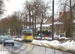 strassenbahn-srs/52143/strassenquerung-kurz-vor-der-wendeschleife-friedrichshagen Strassenquerung kurz vor der Wendeschleife Friedrichshagen, 29. 1. 2010
