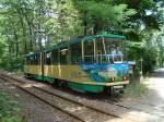 strassenbahn-srs/85744/tw-21-faehrt-aus-dem-ueberholungsgleis Tw 21 fährt aus dem Überholungsgleis wieder auf die Strecke . (1.8.10)