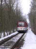 Strassenbahn/10096/auf-der-fahrt-zum-s-bahnhof-strausberg Auf der Fahrt zum S-Bahnhof Strausberg, Winter 2006