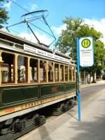 Strassenbahn/18389/hist-tw-2990-in-woltersdorf-schleuse Hist. Tw 2990 in Woltersdorf Schleuse - 23.5.2009