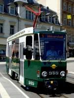 strassenbahn/81240/kt4d---tw-232-auf-der KT4D - Tw 232 auf der Linie 5 in Plauen am 'Tunnel'