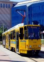 strassenbahn/82783/tw-214-in-neundorf-abfahrbereit-zur Tw 214 in Neundorf abfahrbereit zur Plamag