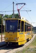 strassenbahn/82788/tw-214-an-der-plamag-plauen Tw 214 an der PLAMAG, Plauen Juli 2010