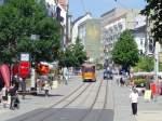 strassenbahn/83508/innenstadt-plauen-mit-arbeitswagen-juli-2010 Innenstadt Plauen mit Arbeitswagen, Juli 2010
