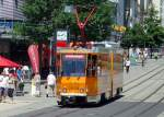 strassenbahn/83511/arbeitswagen-in-der-innenstadt-plauen-im Arbeitswagen in der Innenstadt Plauen im Juli 2010
