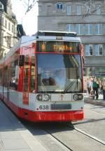 Strassenbahn/32435/strassenbahn-der-linie-8-in-halle Strassenbahn der Linie 8 in halle, Marktplatz - 19.9.2009