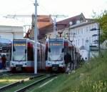 Strassenbahn/32438/zuege-der-linie-2-am-hauptbahnhof Züge der Linie 2 am Hauptbahnhof, 19.9.2009