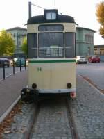Strassenbahn/84768/beiwagen-14-am-bahnhof-naumburg-um Beiwagen 14 am Bahnhof Naumburg, um 2004