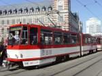 strassenbahn/60866/tatra-kt4d-ausserplanmaessig-auf-der-linir TATRA KT4D außerplanmäßig auf der Linir 5 im Einsatz, Erfurt Anger 2010