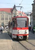 strassenbahn/64099/tw-405-solo-auf-dem-anger Tw 405 solo auf dem Anger, Erfurt 13.4.2010