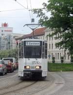 strassenbahn/71116/kt4d-zug-der-linie-1-nach-zwoetzen KT4D-Zug der Linie 1 nach Zwötzen, Gera 2010