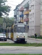 strassenbahn/71433/kt4d-auf-linie-1-unterwegs-gera KT4D auf Linie 1 unterwegs, Gera 2010
