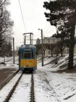 thuringerwaldbahn/8361/zweirichtungstriebwagen-528-in-der-schleife-waltershausen Zweirichtungstriebwagen 528 in der Schleife Waltershausen, 2005