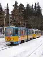 thuringerwaldbahn/8370/endstation-tabarz-vor-der-rueckfahrt-nach Endstation Tabarz vor der Rückfahrt nach Gotha, 2005