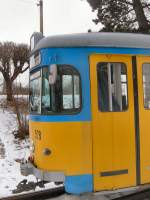 thuringerwaldbahn/87660/tw-528-in-waltershausen-februar-2006 TW 528 in Waltershausen, Februar 2006
