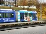 strassenbahn/40278/niederflurwagen-der-linie-5-in-lobeda-ost Niederflurwagen der Linie 5 in Lobeda-Ost, Jena November 2009